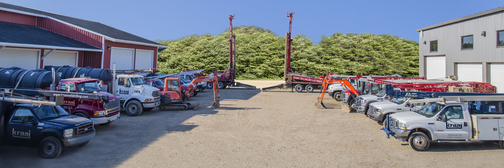 well drilling - fleet of trucks - Kraai well drilling